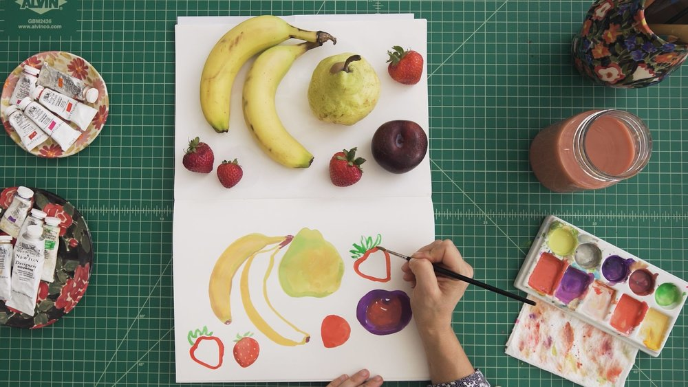 Class still from    Beyond Watercolor: Learn to Paint with Gouache    with Leah Goren