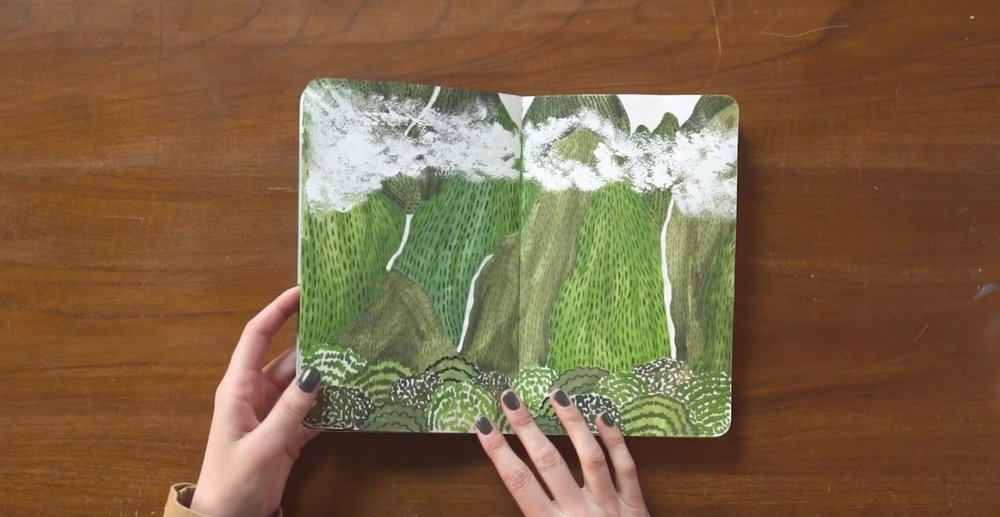 Class still from    Botanical Illustration: Paint a Colorful Garden with Watercolor and Gouache    with Sara Boccaccini Meadows