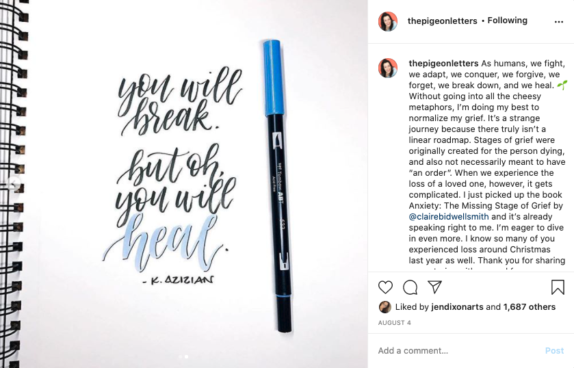 Skillshare instructor Peggy Dean illustrates the power of modern calligraphy to make words both beautiful and powerful.