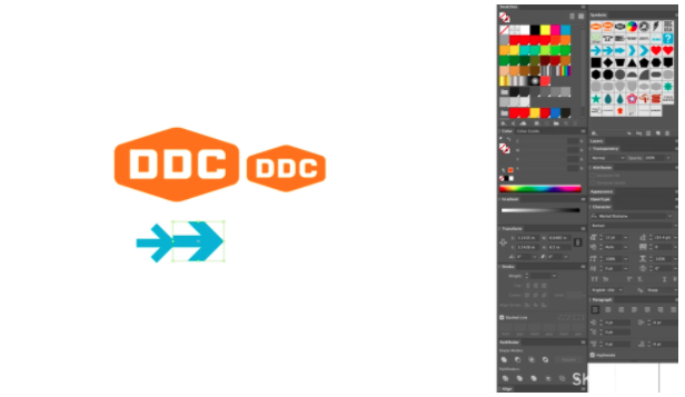 In addition to his own logo work, Draplin teaches Skillshare students how to use scale within their own logos and designs.