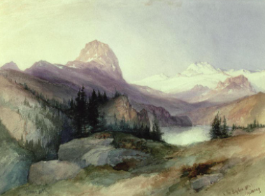 In the Bighorn Mountain s by Thomas Moran