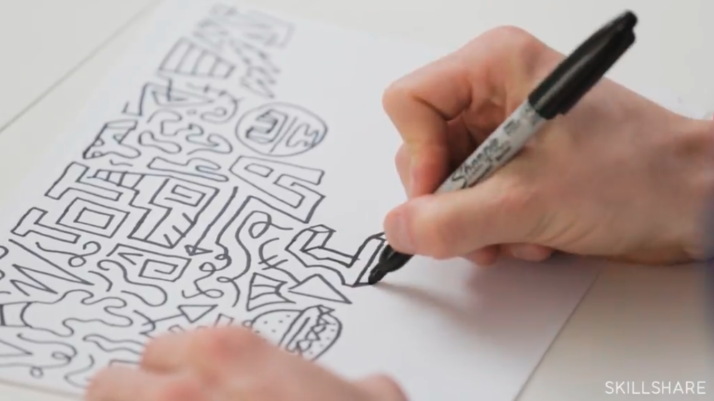 """From Timothy Goodman's Skillshare Original, """"Exploring Your Creative Style: Draw an Expressive Alphabet"""""""