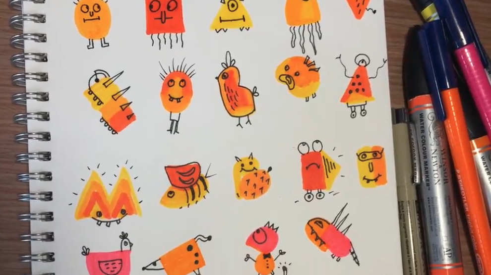 """From Hanny Agustine's Skillshare class """"How to Draw Cute Characters"""""""