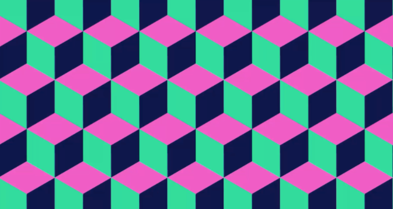 Isometric cube pattern from Helen Bradley's Photoshop for Lunch™ Skillshare course series