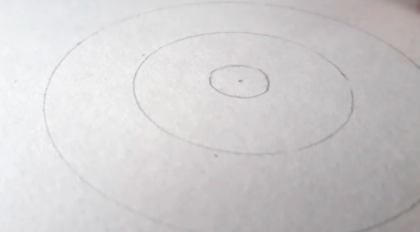 Your four circles will form the base for your sunflower drawing.