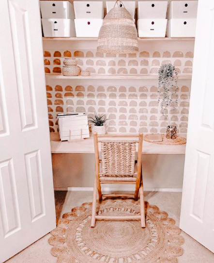 Source:     Instagram     Closet space can double as home office digs.