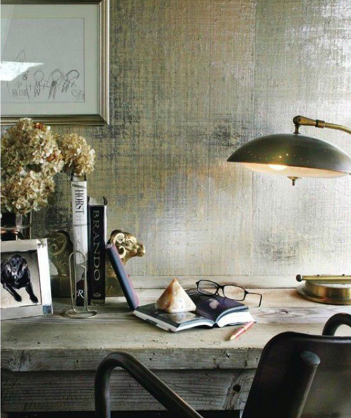 Source:    Instagram     Add extra shine to your home office.