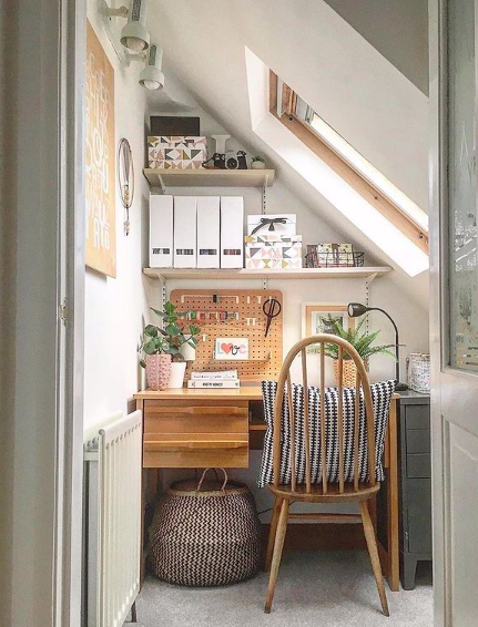 Source:    Instagram     A home office can be tucked into almost any space in your home.