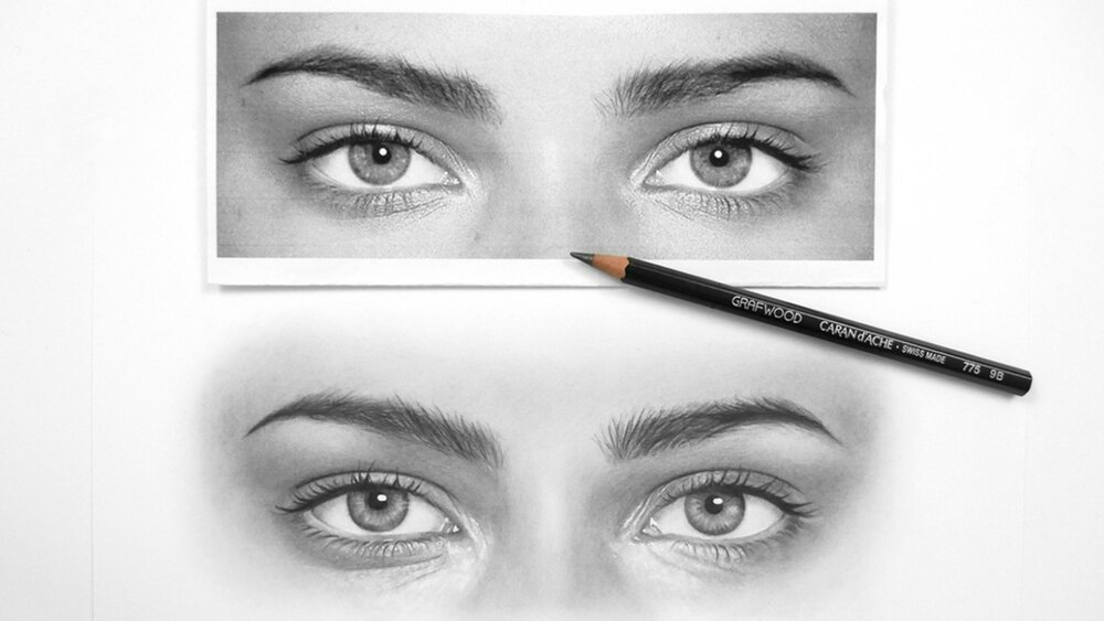 """From Emmy Kalia's class, """"How to Draw Realistic Eyes"""""""