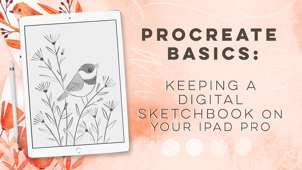 Stephanie breaks down the basics of canvas setup and digital sketching in Procreate