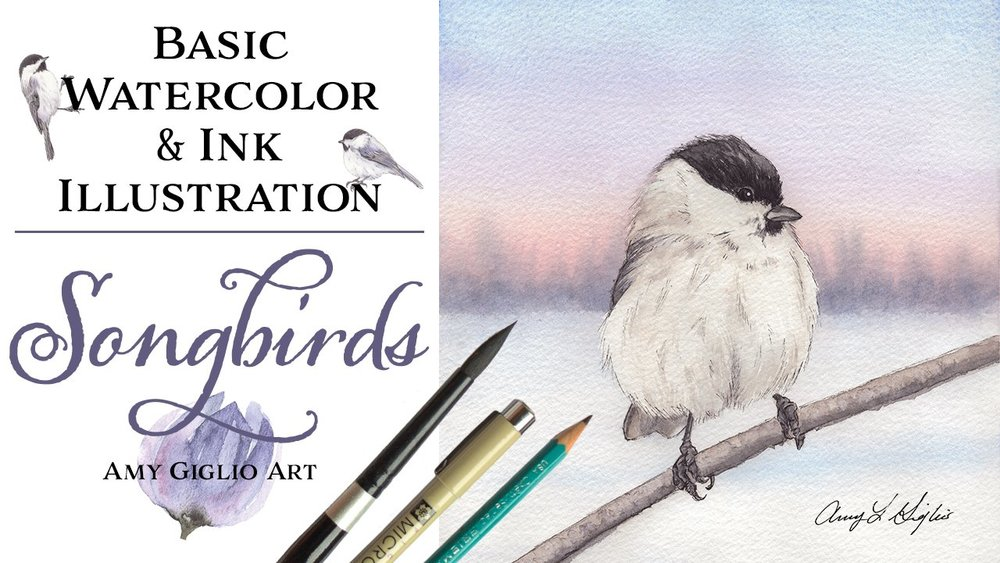 Dive into the fundamentals of watercolor and drawing with Amy