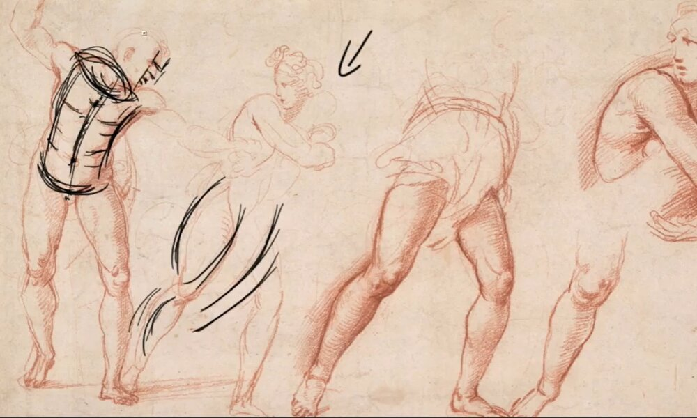 Studying how to draw human poses from old masters like Michelangelo and Raphael can be a good way of learning the basics.