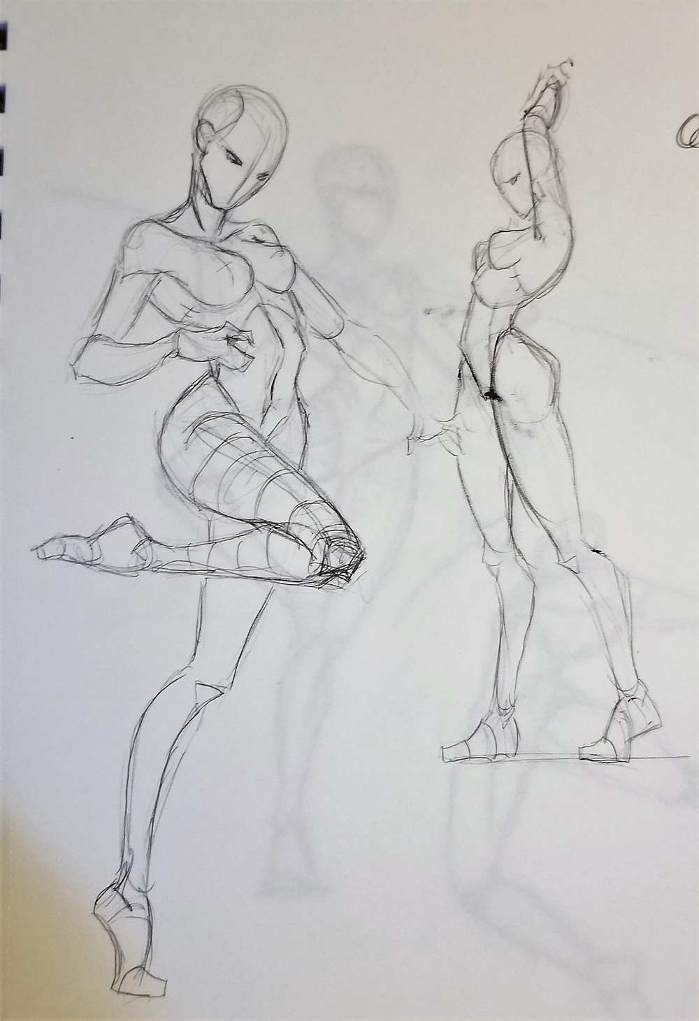 For greater realism, poses shouldn't be stiff.