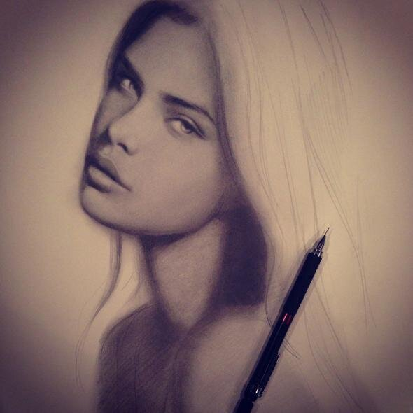 Image from Gabrielle Brickey's Skillshare class, Start Drawing: Techniques for Pencil Portraits