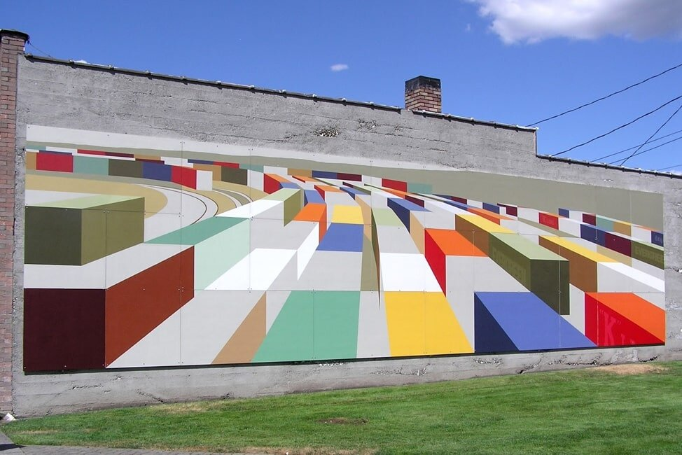 Mural in Kent by Mary Iverson