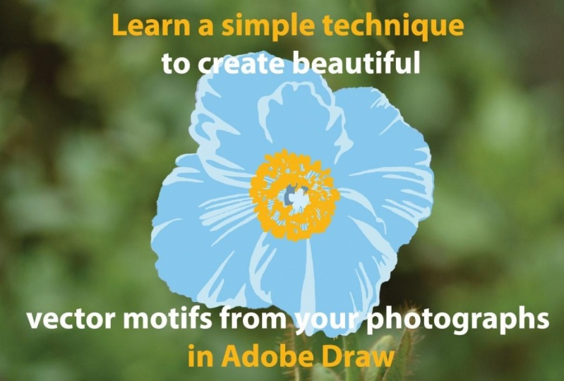 Julia  shares her techniques for creating motifs using her photographs and Adobe Draw.