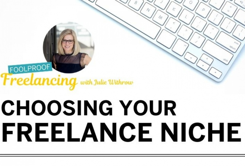 Julie  walks through her strategy on how to choose your freelancing niche.