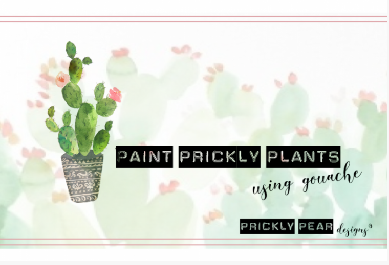 Explore the basics of mixing and using gouache paint with  Sara  as she shares techniques for drawing and painting a prickly plant.