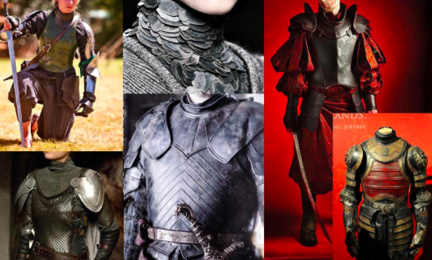 Skillshare student Nina Mikhailova gathered images of suits of armor to prepare her to design her own equipment concept art.