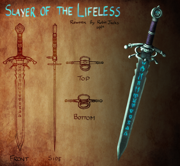 Some concept artists specialize in just one specific visual element, like weapons.