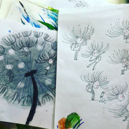 Dream Chen's Instagram account gives a peek into her drawing notebook.