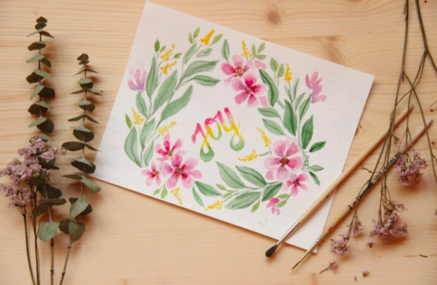 In Peggy Dean's course,  Watercolor Lettering , she explains how to hand lettering projects using watercolors and a traditional brush.
