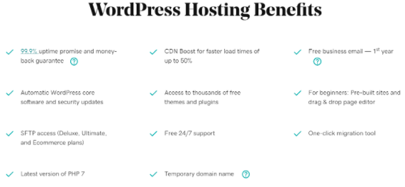Just a few of the benefits of WordPress hosting.