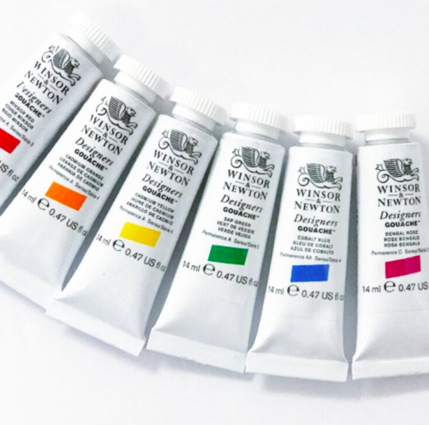 Winsor & Newton's miniature gouache set is perfect for your art travel kit.