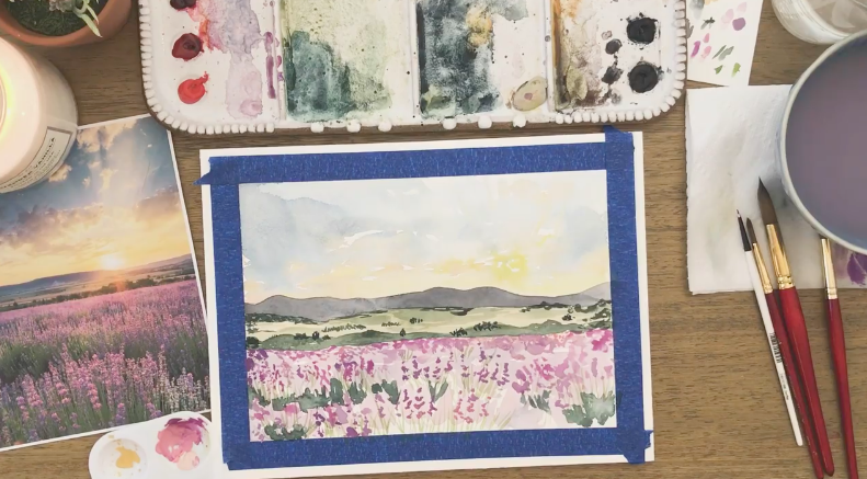 Let your imagination dictate your creative watercolor work.