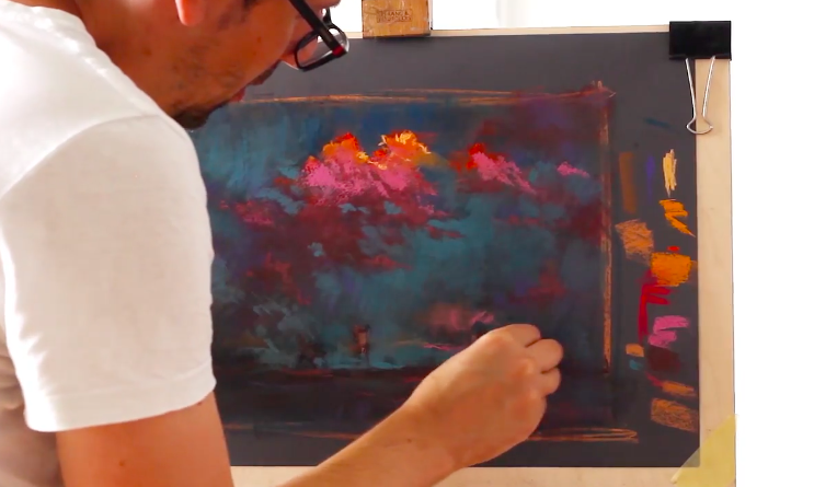 Before you know it, you'll be creating pastel skies like this one by Skillshare instructor Peter Nagy.