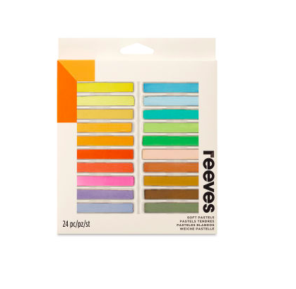 For beginners, a set like this one from Reeves is perfect for learning how to use soft pastels.