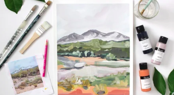 To create an oil painting you'll need oil paints, brushes, canvas, and a few other supplies.