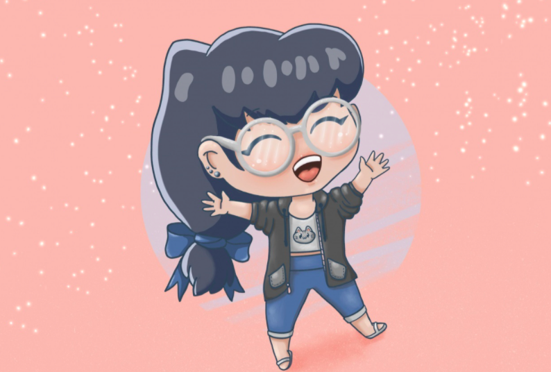 Practice digital anime drawing with cute little chibis!