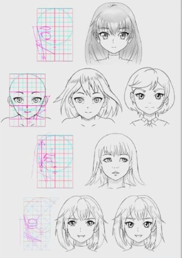 Proportions are important when designing anime faces.