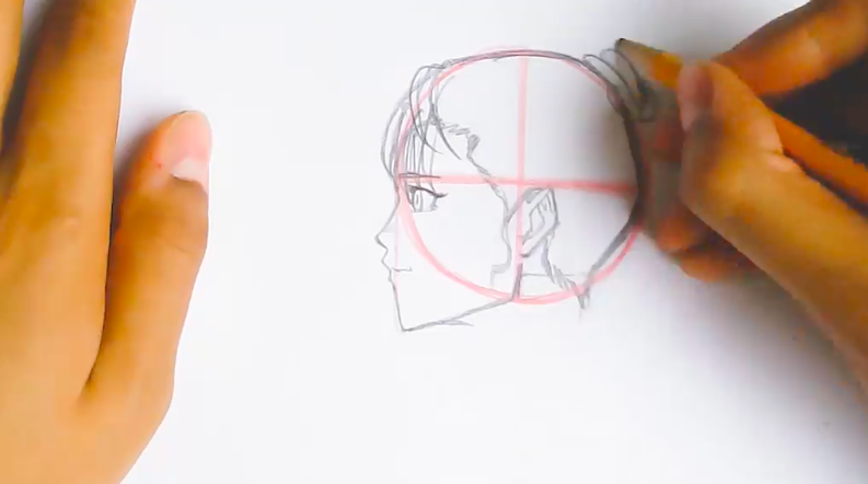 Drawing anime characters from the side presents a whole new challenge for artists.