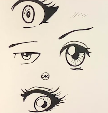 Bring your anime eyes to life with different styles and drawing techniques!