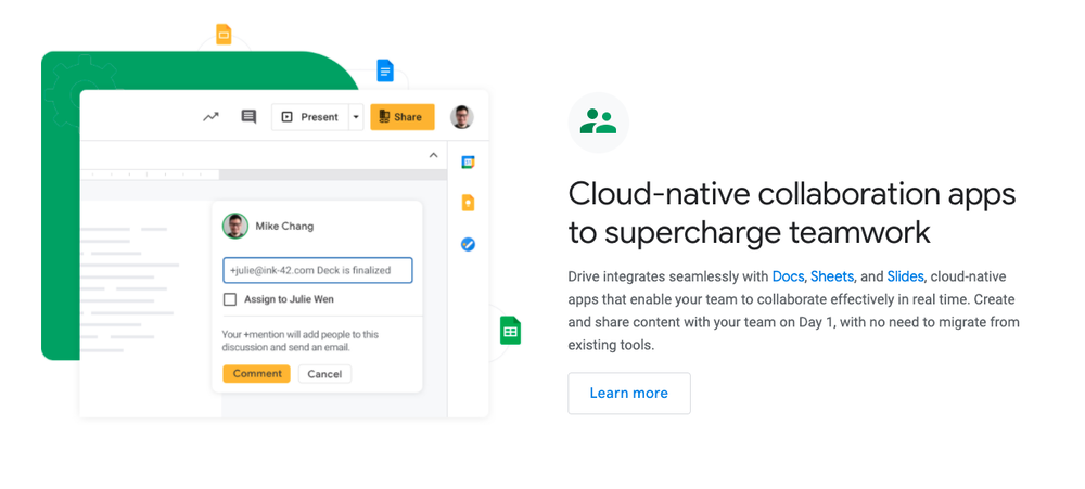 Source :  Google Drive is like a one-stop shop for all of your collaborative WFH needs.