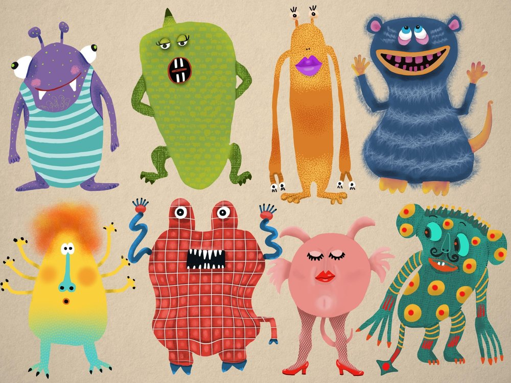 monsters made in procreate