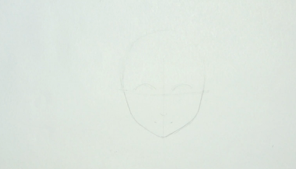Draw your face outline lightly so that any mistakes can be easily corrected.