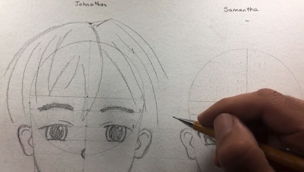 Hair on anime characters is typically messy so don't worry about it looking perfect.
