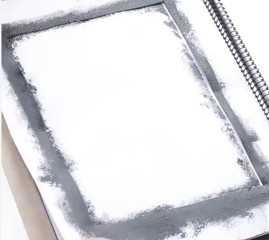 Dab paint on with a sponge.