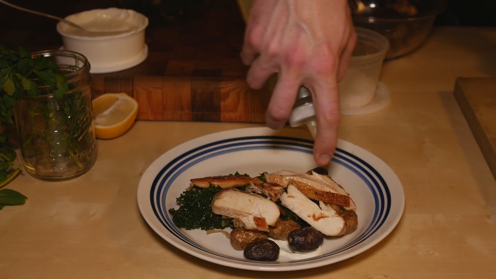 Take a moment to plate your food carefully to achieve that restaurant feel at home.