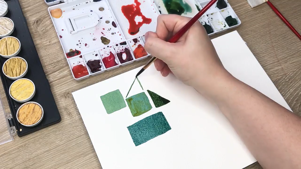 Painting with watercolors is calming and approachable for all artistic skill levels.