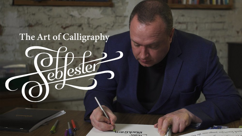 Cover image for Seb Lester's:  Calligraphy Essentials: From First Script to Final Flourish