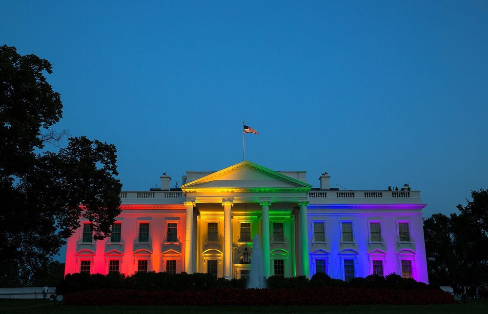 The White House tweets a photo on June 26, 2015 to celebrate the passing of the Marriage Equality Act
