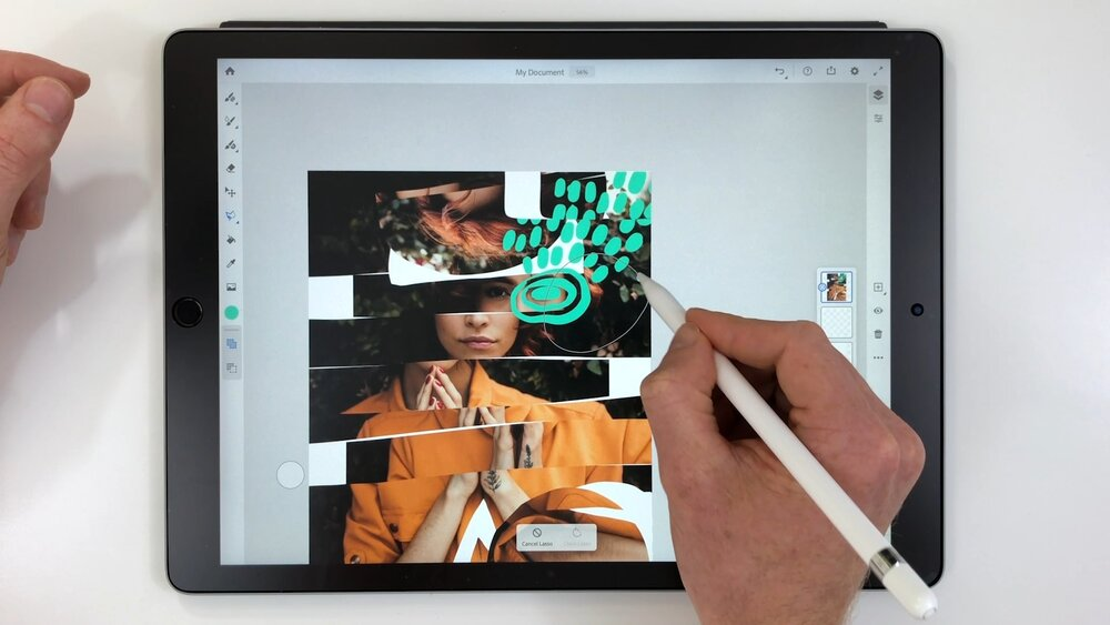 Credit: Class Still from Abstract Art: Easy Ways to Express Yourself with Adobe Fresco with Rich Armstrong