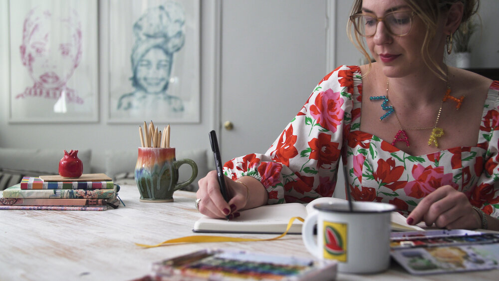 Photo from Skillshare Original    Creative Transformation: 9 Exercises to Draw, Write, and Discover Your Future with Mari Andrew.