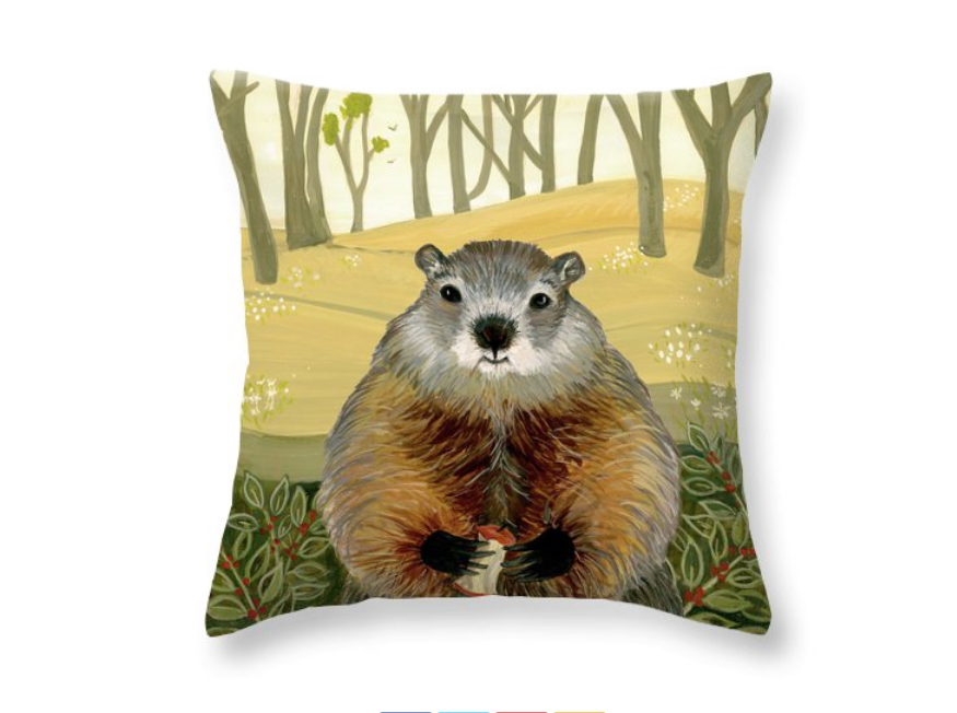 """""""Friendly Woodchuck"""" by Jean Ruth (image courtesy of the artist)"""