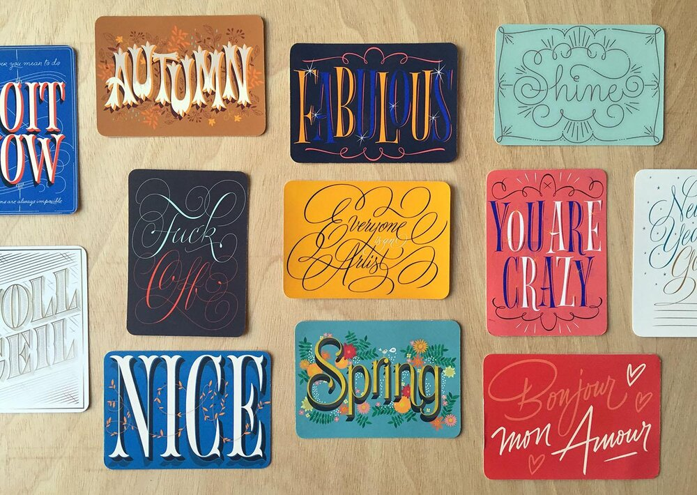 Work by Martina Flor from her class, The Golden Secrets of Hand-Lettering