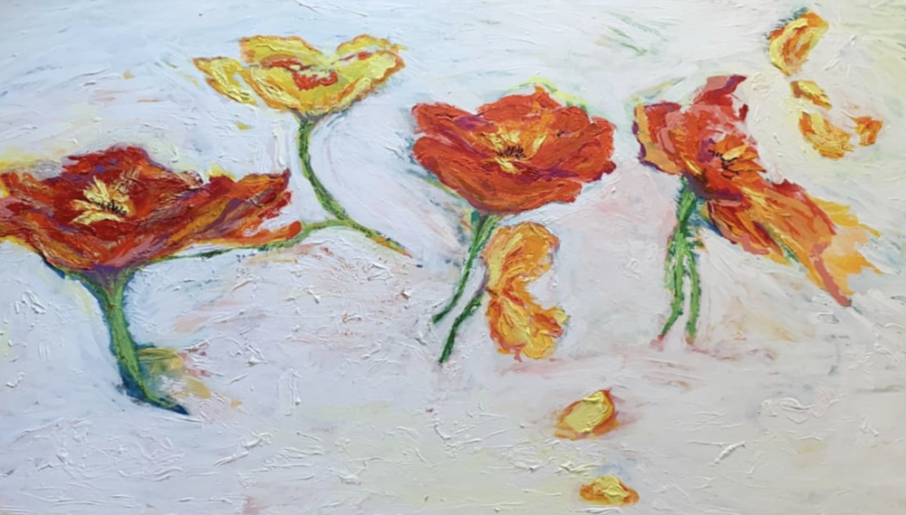 Acrylic painting from artist Camilla Webster. See details for the piece    here.